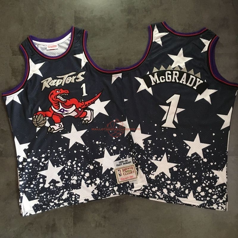Achat Maillot NBA Toronto Raptors NO.1 Tracy McGrady Retro Noir AU pas cher