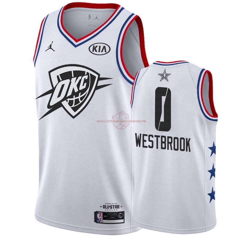 Achat Maillot NBA 2019 All Star NO.0 Russell Westbrook Blanc pas cher