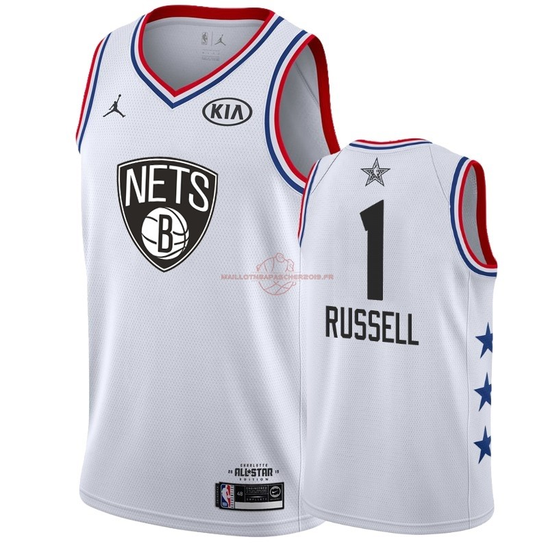 Achat Maillot NBA 2019 All Star NO.1 DAngelo Russell Blanc pas cher