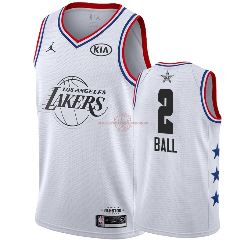 Achat Maillot NBA 2019 All Star NO.2 Lonzo Ball Blanc pas cher