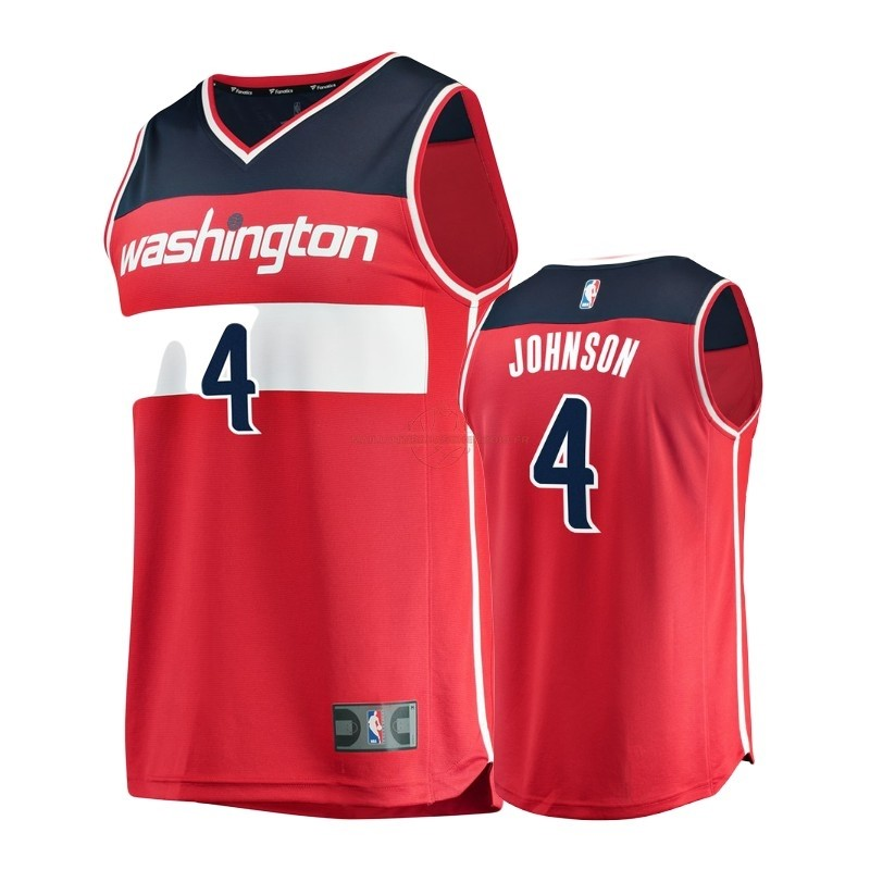 Achat Maillot NBA Enfant Washington Wizards NO.4 Wesley Johnson Rouge Icon pas cher