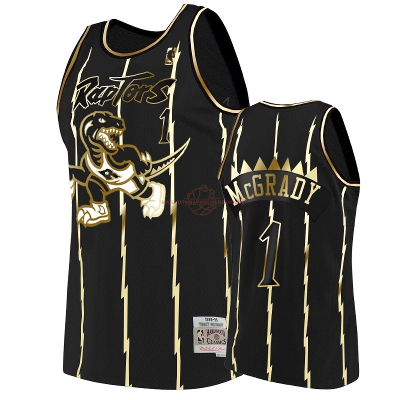 Achat Maillot NBA Nike Toronto Raptors NO.1 Tracy McGrady Or Edition pas cher