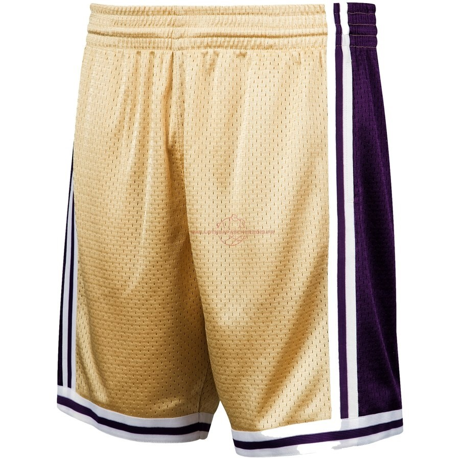 Achat Short Basket Los Angeles Lakers Or Hardwood Classics pas cher