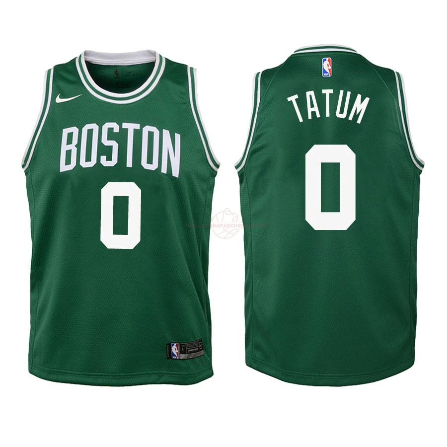 Achat Maillot NBA Enfant Boston Celtics NO.0 Jayson Tatum Vert Icon 2018-19