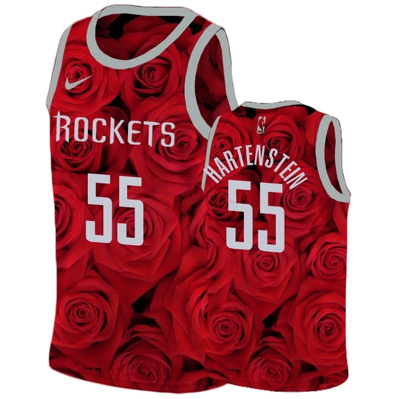 Achat Maillot NBA Nike Houston Rockets NO.55 Isaiah Hartenstein Rouge
