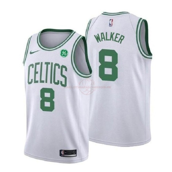 Achat Maillot NBA Enfant Boston Celtics NO.8 Kemba Walker Blanc Association 2019-20