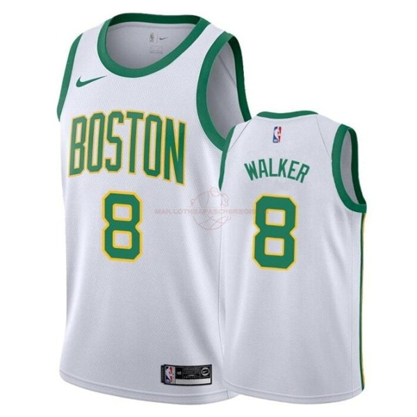 Achat Maillot NBA Enfant Boston Celtics NO.8 Kemba Walker Blanc Ville 2019-20