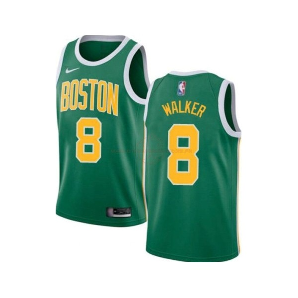 Achat Maillot NBA Enfant Boston Celtics NO.8 Kemba Walker Vert Icon 2019-20