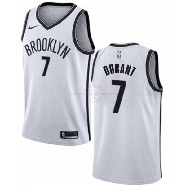 Achat Maillot NBA Enfant Brooklyn Nets NO.7 Kevin Durant Blanc Association 2019-20