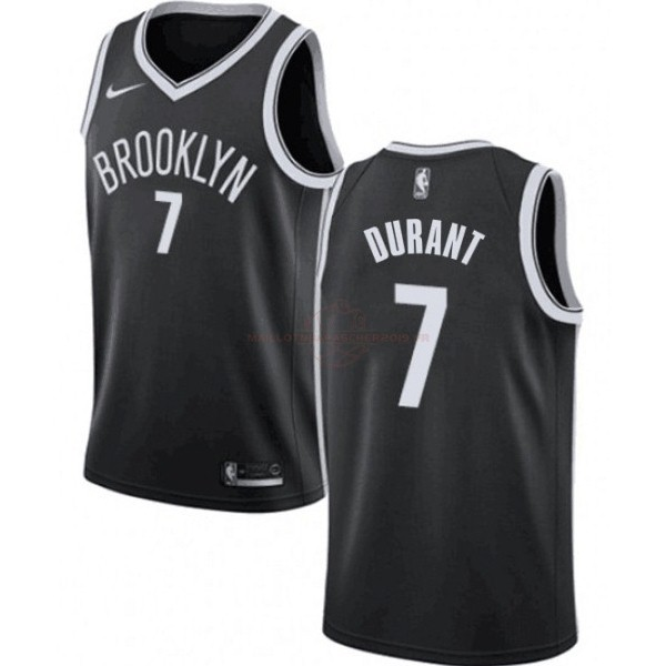 Achat Maillot NBA Enfant Brooklyn Nets NO.7 Kevin Durant Noir Icon 2019-20