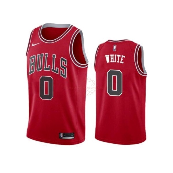 Achat Maillot NBA Nike Chicago Bulls NO.0 Coby White Rouge Icon 2019-20