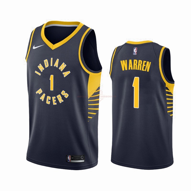 Achat Maillot NBA Nike Indiana Pacers NO.1 T.J. Warren Gray Marine Icon 2019-20