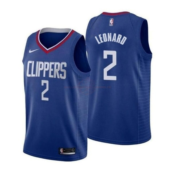 Achat Maillot NBA Nike Los Angeles Clippers NO.2 Kawhi Leonard Bleu Icon 2019-20