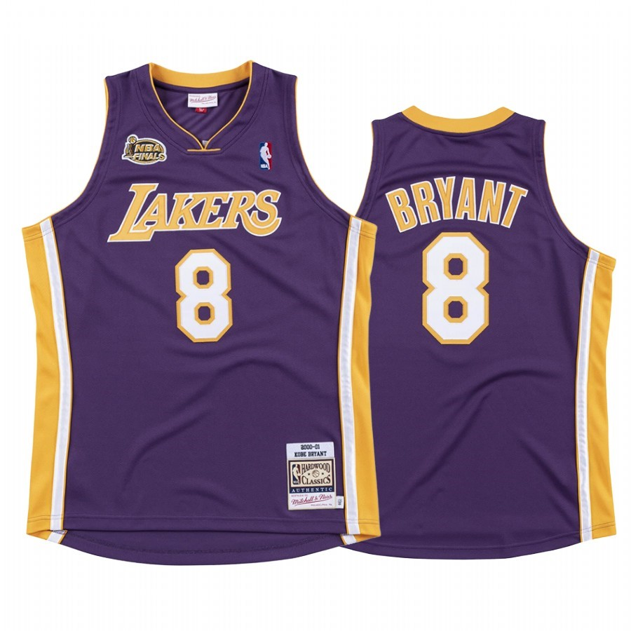 Maillot NBA Nike Los Angeles Lakers NO.8 Kobe Bryant Pourpre 2000 01