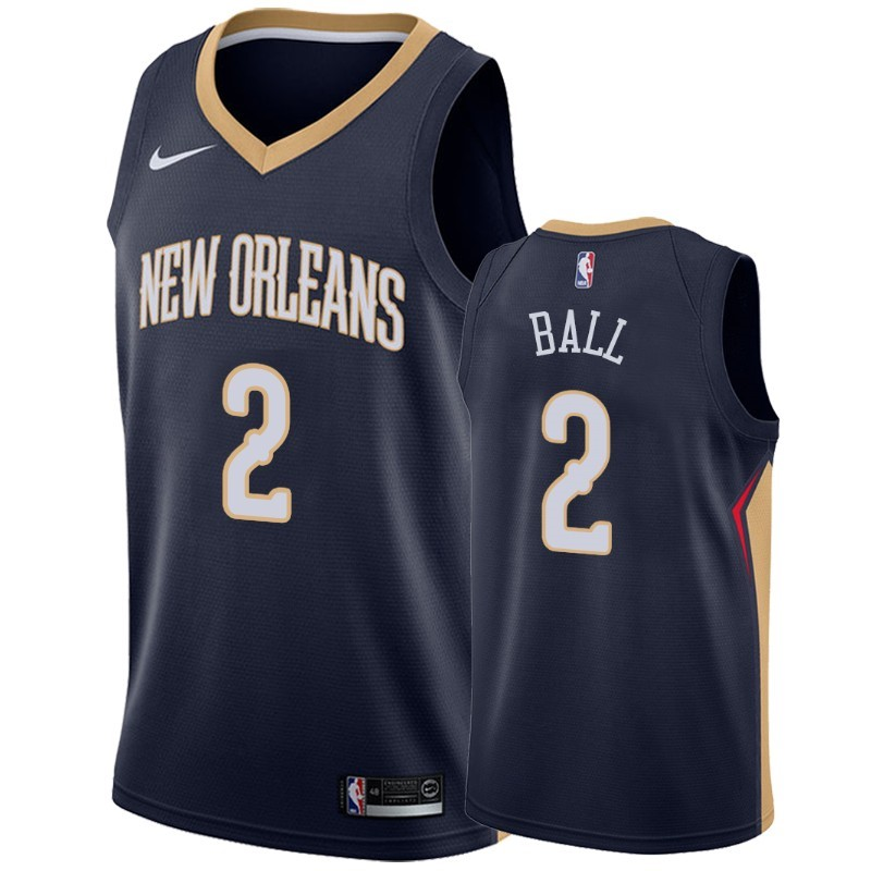 Maillot NBA Nike New Orleans Pelicans NO.2 Lonzo Ball Marine Icon 2019-20