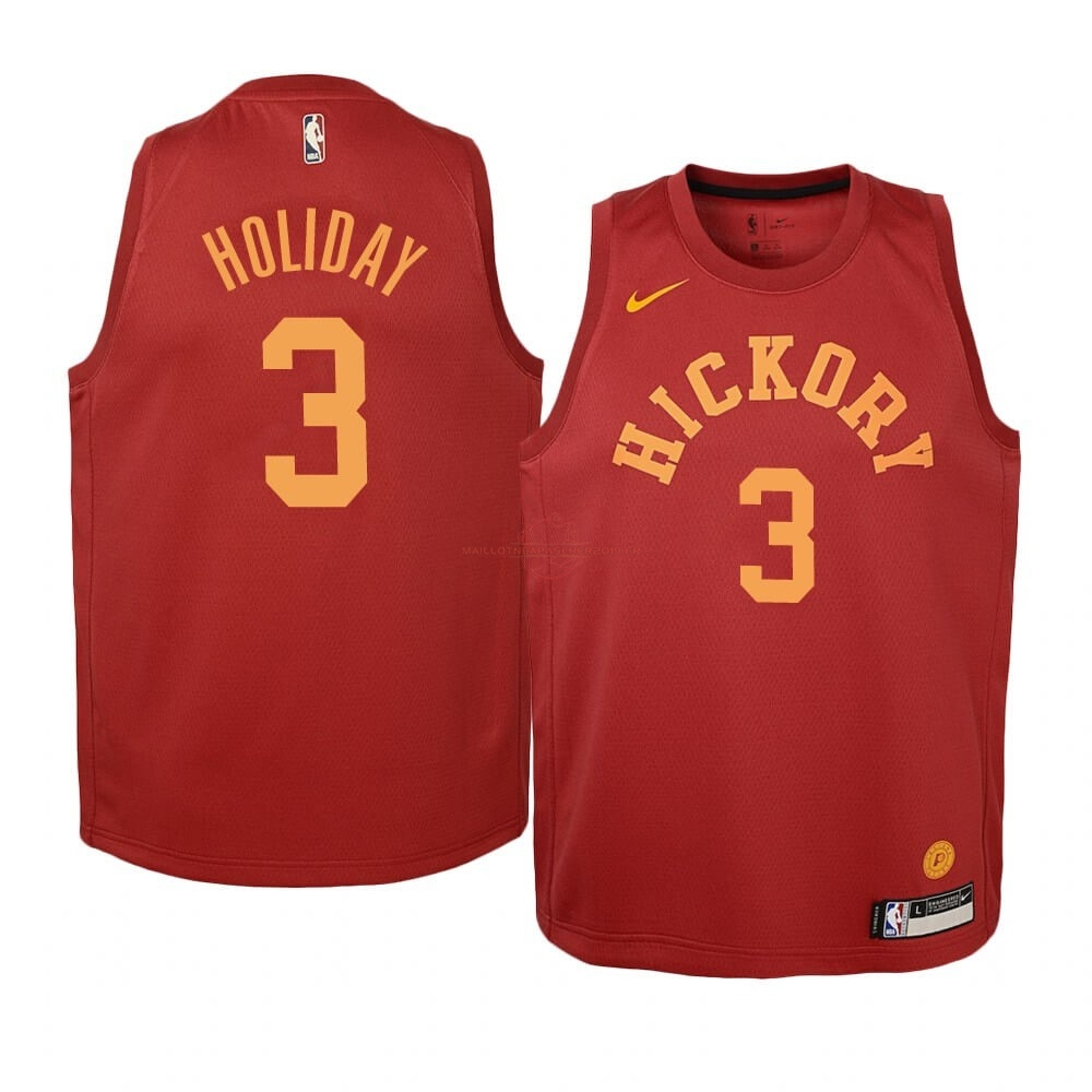 Achat Maillot NBA Enfant Indiana Pacers NO.3 Aaron Holiday Nike Retro Bordeaux pas cher