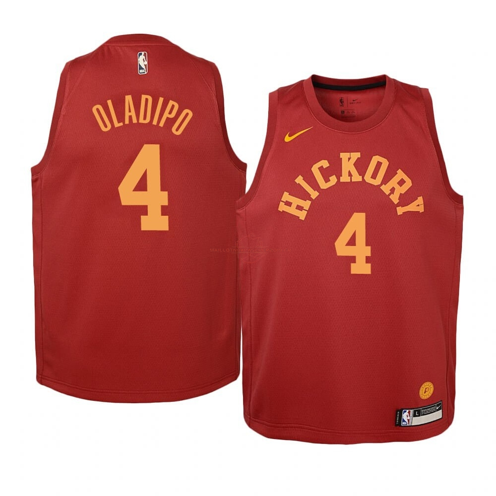Achat Maillot NBA Enfant Indiana Pacers NO.4 Victor Oladipo Nike Retro Bordeaux pas cher
