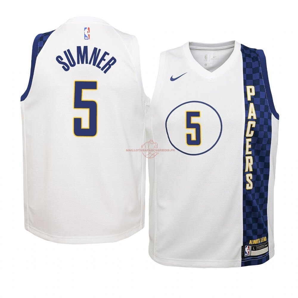 Achat Maillot NBA Enfant Indiana Pacers NO.5 Edmond Sumner Nike Blacno Ville 2019-20 pas cher