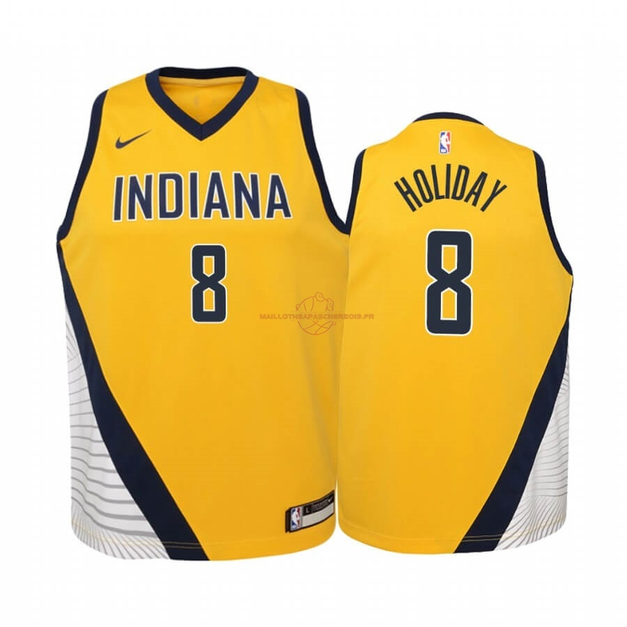 Achat Maillot NBA Enfant Indiana Pacers NO.9 T.J. McConnell Nike Retro Blanc pas cher