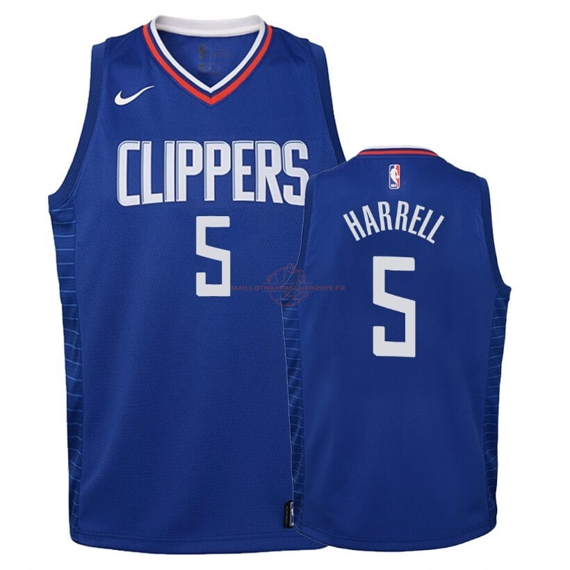 Achat Maillot NBA Enfant Los Angeles Clippers NO.5 Montrezl Harrell Bleu Icon 2019-20 pas cher