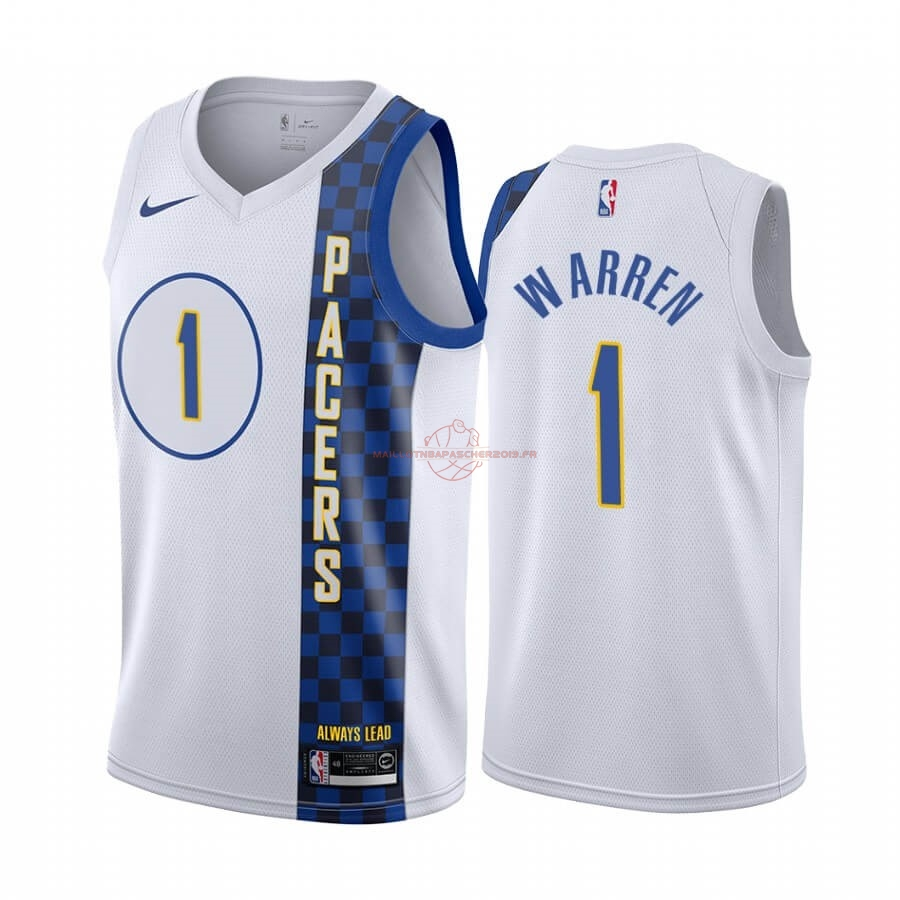 Achat Maillot NBA Nike Indiana Pacers NO.1 T.J. Warren Nike Blacno Ville 2019-20 pas cher