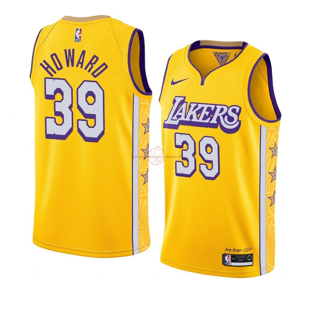 Achat Maillot NBA Nike Los Angeles Lakers NO.39 Dwight Howard Nike Jaune Ville 2019-20 pas cher