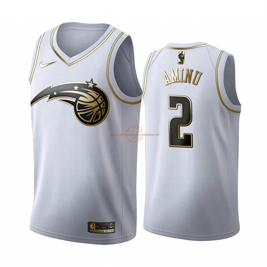 Achat Maillot NBA Nike Orlando Magic NO.2 Al-Farouq Aminu Blanc Or 2019-20 pas cher