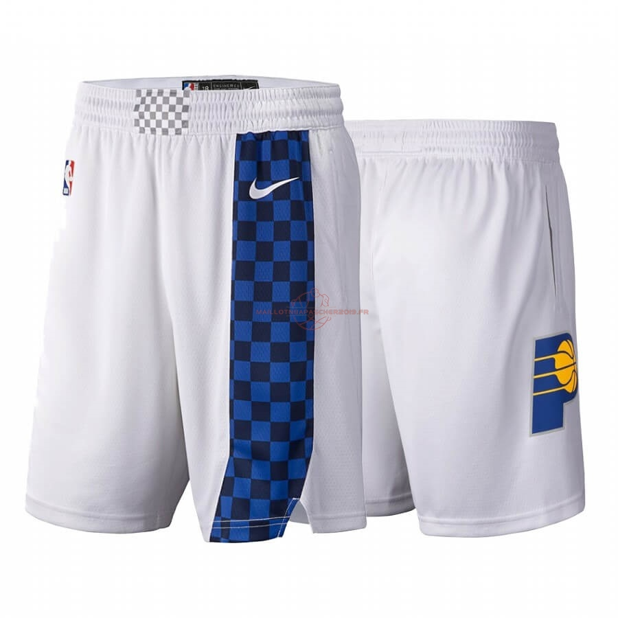 Achat Short Basket Indiana Pacers Nike Blanc Ville 2019-20 pas cher