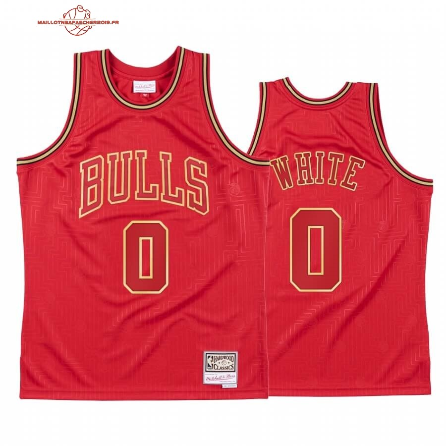 Achat - Maillot NBA CNY Throwback Chicago Bulls NO.0 Coby White Rouge 2020