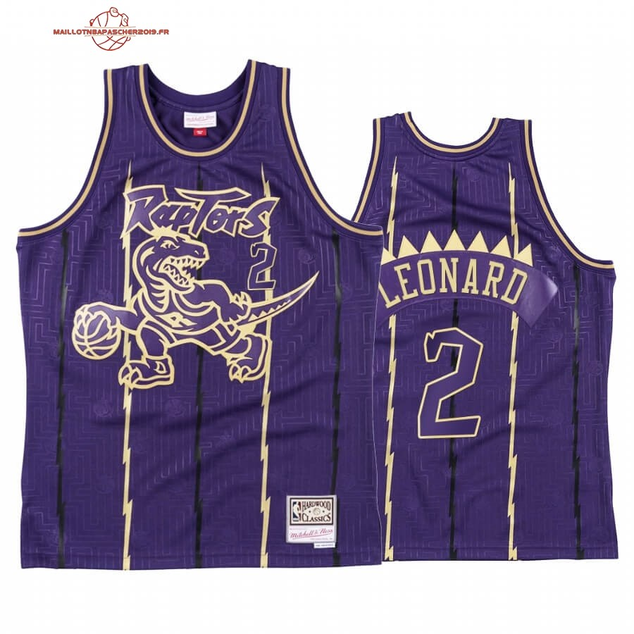 Achat - Maillot NBA CNY Throwback TOrnto Raptors NO.2 Kawhi Leonard Pourpre 2020