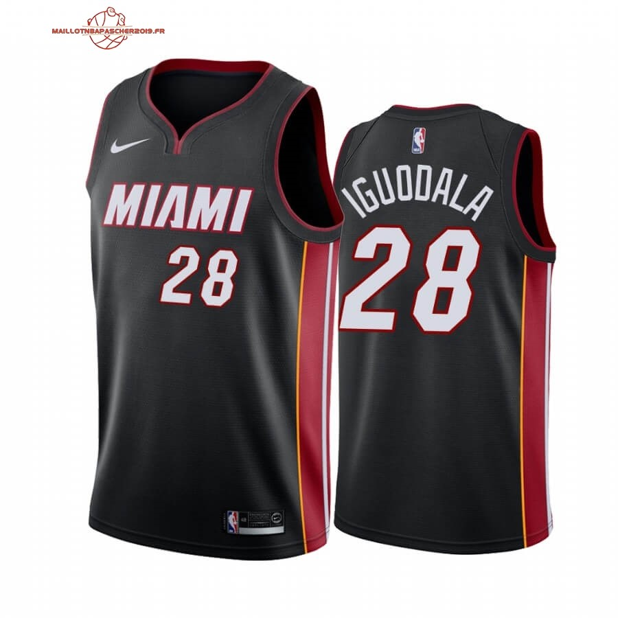 Achat - Maillot NBA Miami Heat NO.28 Andre Iguodala Noir Icon 2019-20