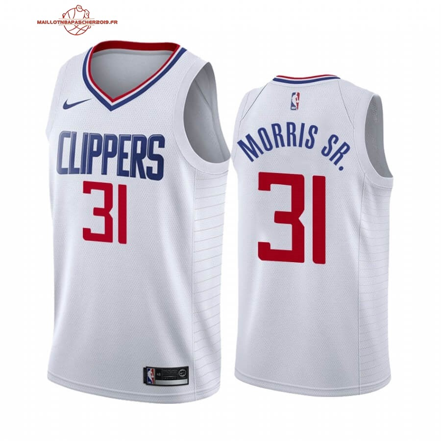 Achat - Maillot NBA Nike Los Angeles Clippers NO.31 Marcus Morris Sr. Blanc Association 2019-20