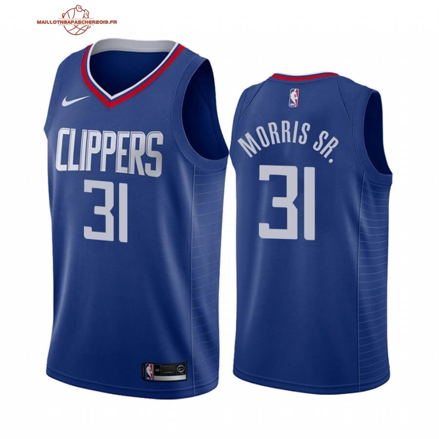 Achat - Maillot NBA Nike Los Angeles Clippers NO.31 Marcus Morris Sr. Bleu Icon 2019-20