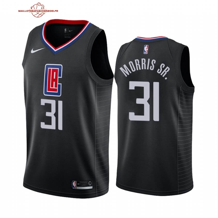 Achat - Maillot NBA Nike Los Angeles Clippers NO.31 Marcus Morris Sr. Noir Statement 2019-20