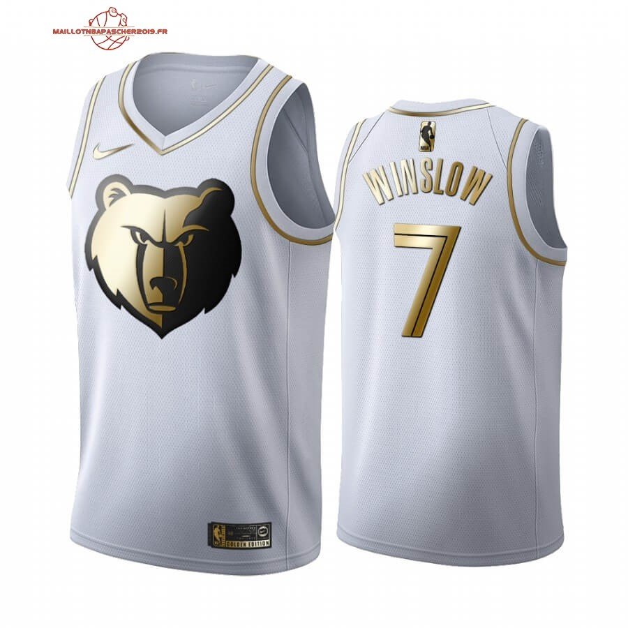 Achat - Maillot NBA Nike Menphis Grizzlies NO.7 Justise Winslow Blanc Or 2019-20