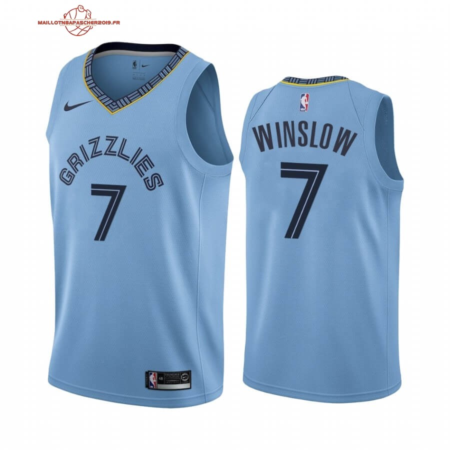 Achat - Maillot NBA Nike Menphis Grizzlies NO.7 Justise Winslow Bleu Statement 2019-20