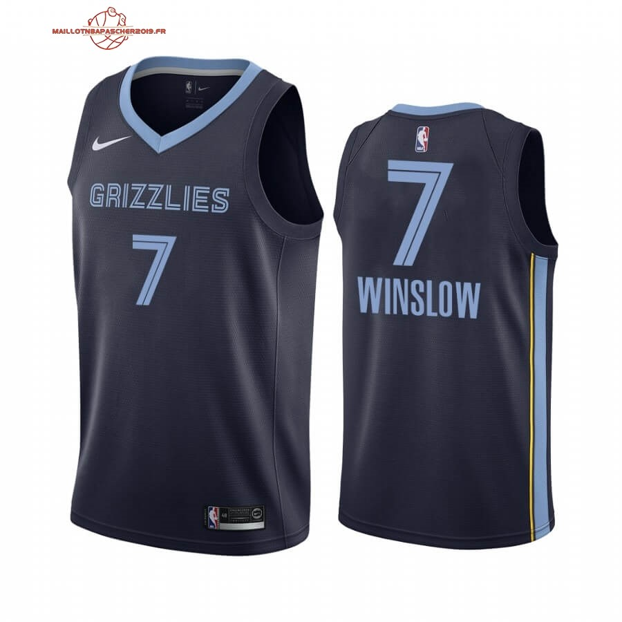 Achat - Maillot NBA Nike Menphis Grizzlies NO.7 Justise Winslow Marine Icon 2019-20