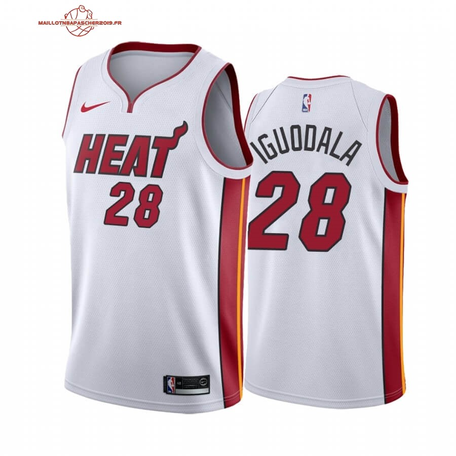 Achat - Maillot NBA Nike Miami Heat NO.28 Andre Iguodala Blanc Association 2019-20