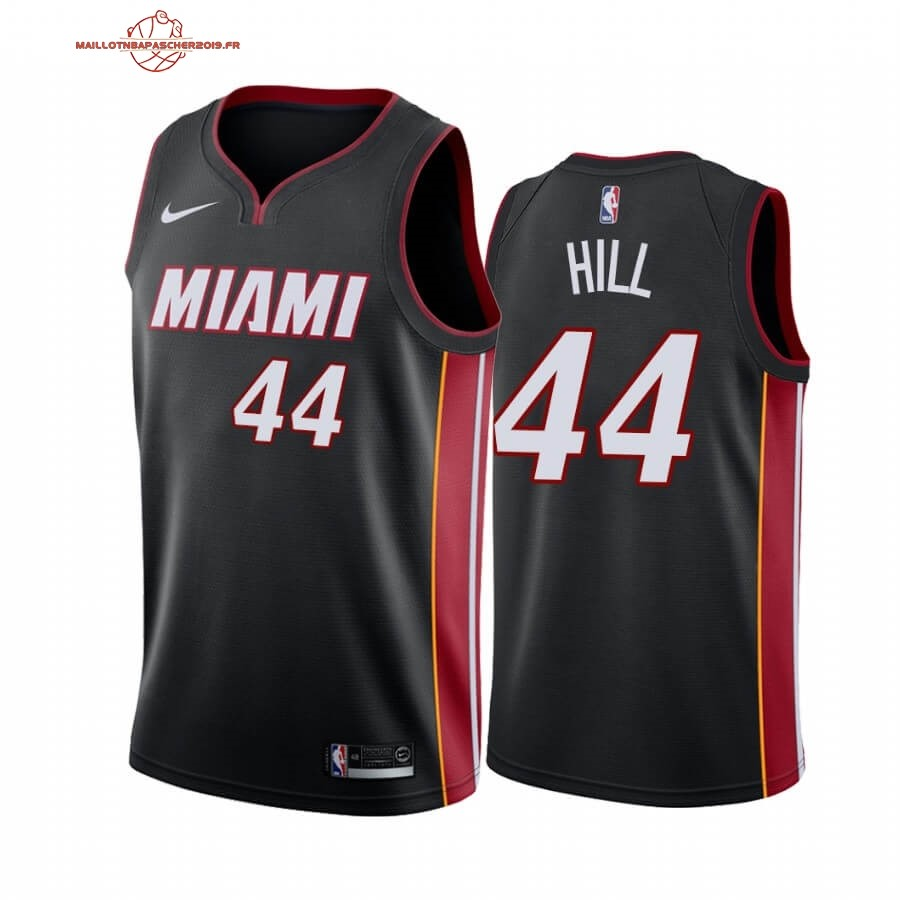 Achat - Maillot NBA Nike Miami Heat NO.44 Solomon Hill Noir Icon 2019-20