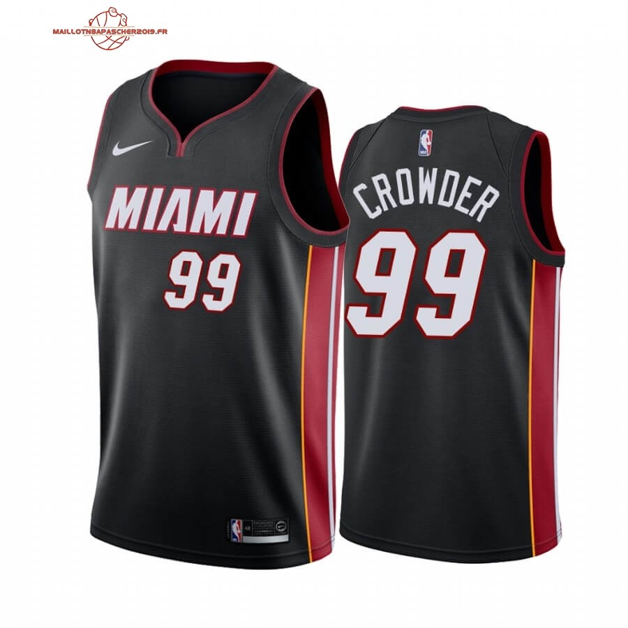 Achat - Maillot NBA Nike Miami Heat NO.99 Jae Crowder Noir Icon 2019-20