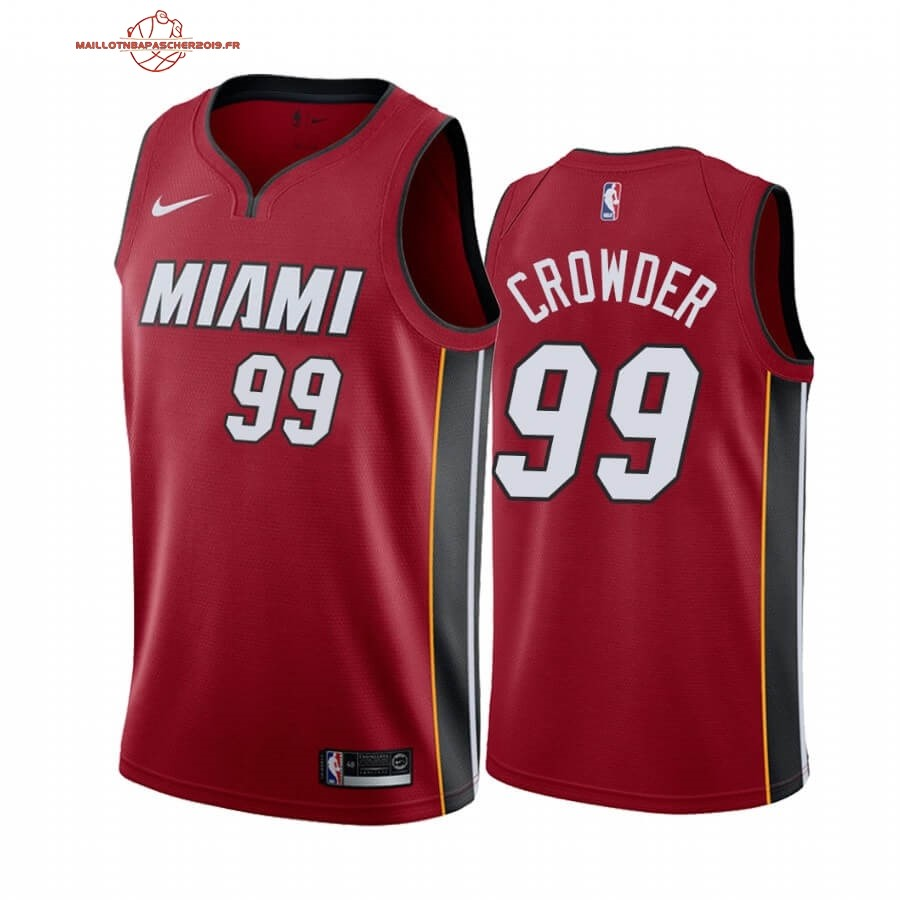 Achat - Maillot NBA Nike Miami Heat NO.99 Jae Crowder Rouge Statement 2019-20