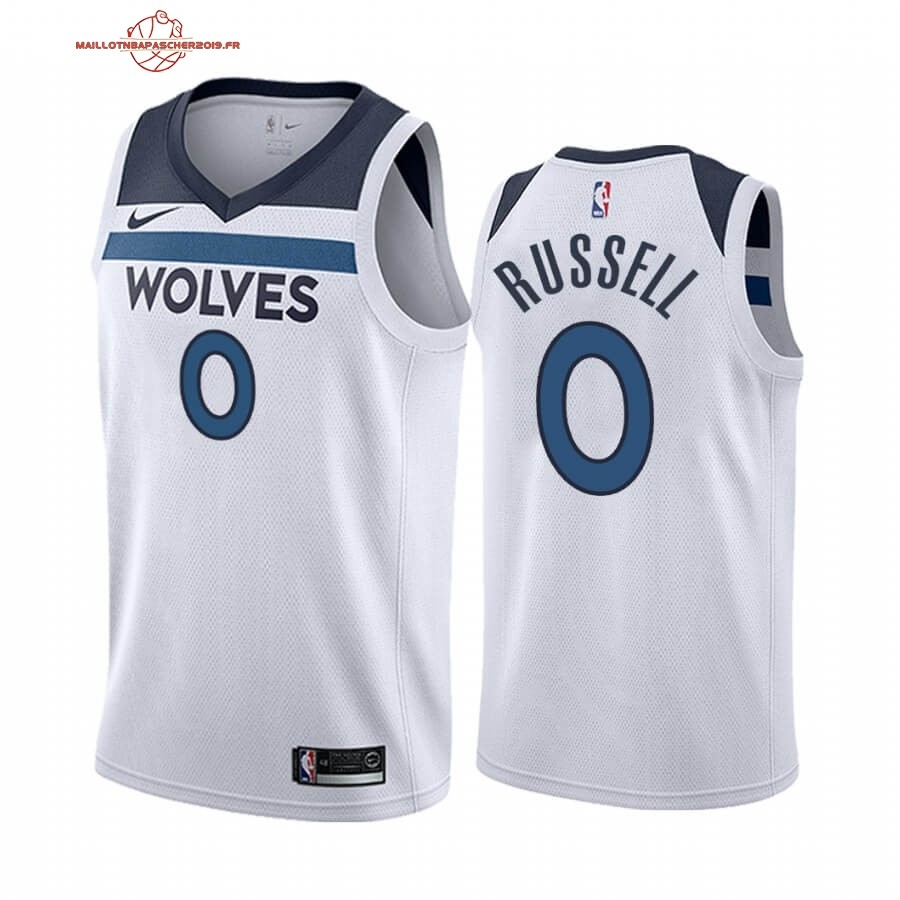 Achat - Maillot NBA Nike Minnesota Timberwolves NO.0 D'angelo Russell Blanc Association 2019-20