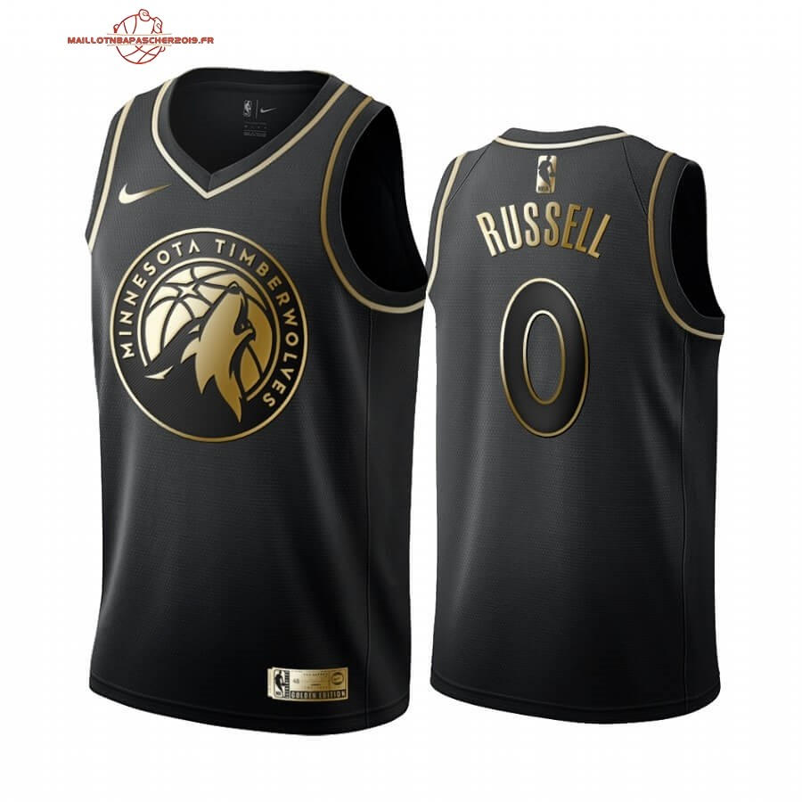 Achat - Maillot NBA Nike Minnesota Timberwolves NO.0 D'angelo Russell Or Edition 2019-20