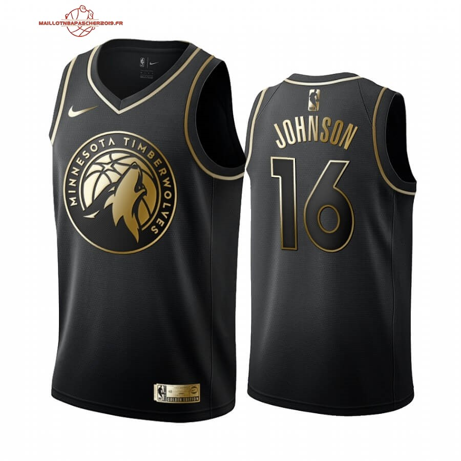 Achat - Maillot NBA Nike Minnesota Timberwolves NO.16 James Johnson Or Edition 2019-20