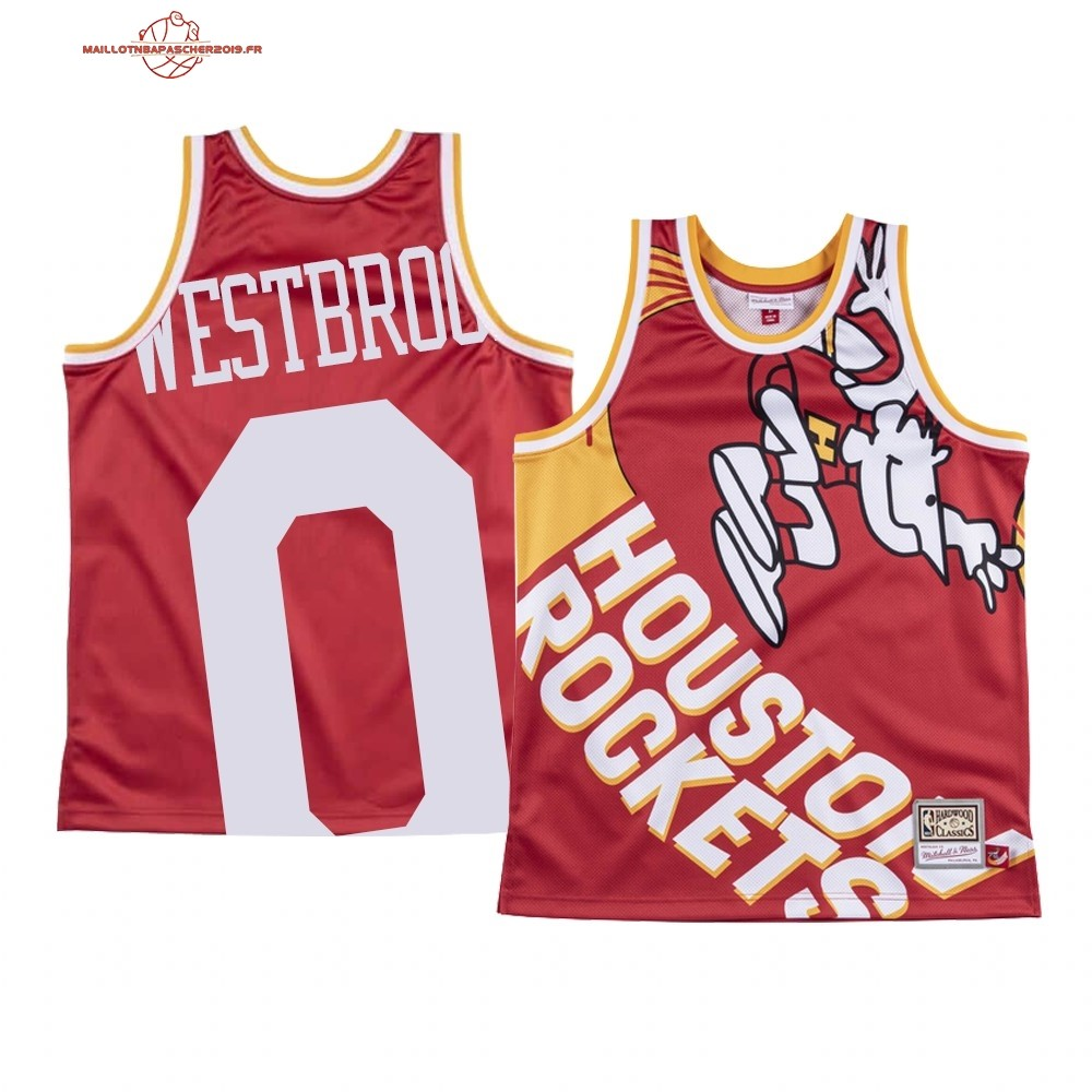 Achat - Maillot NBA Houston Rockets Big Face NO.0# Russell Westbrook Rouge