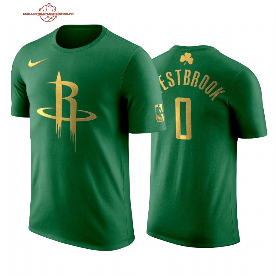 Achat - Maillot NBA Nike Houston Rockets Manche courte NO.0# Russell Westbrook Vert