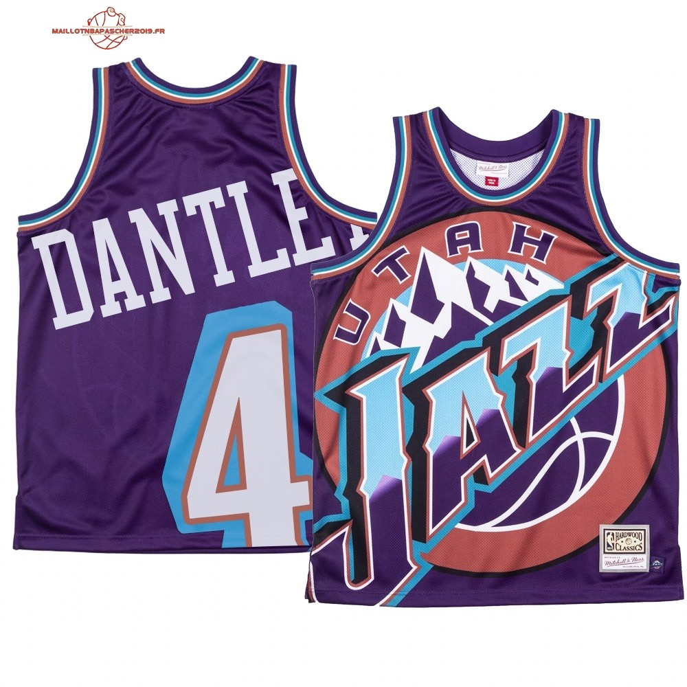 Achat - Maillot NBA Utah Jazz Big Face NO.4# Adrian Dantley Pourpre