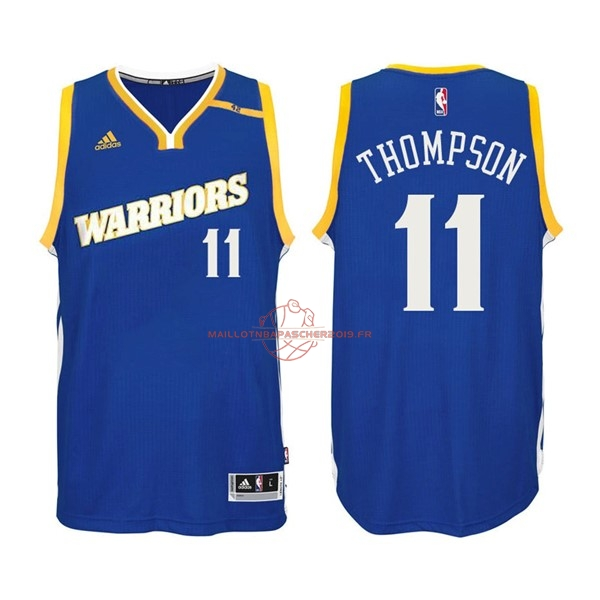 Achat Maillot NBA Golden State Warriors NO.11 Klay Thompson 2016-2017 Bleu pas cher