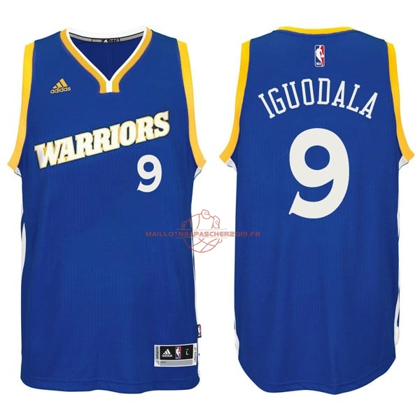 Achat Maillot NBA Golden State Warriors NO.9 Andre Iguodala 2016-2017 Bleu pas cher