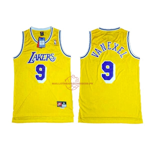 Achat Maillot NBA Los Angeles Lakers NO.9 Nick Van Exel Jaune pas cher